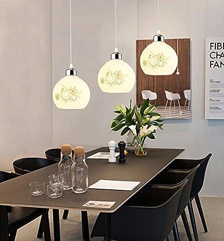 LED lumière modernes lustres lumineux plafond Lustre Pendentif Restaurant Bar dans la zone Reception de l hotel est elegante. tête d'escaliers Cone Lustre, 3Tête longue Kim hwa-round lustres de lentille/blanc (