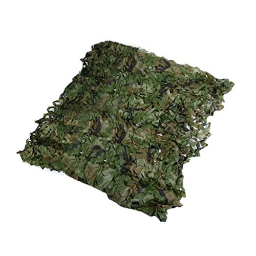 Jullyelegant 0.5x0.5M Camuflaje Red Ejército Militar Camo Net Car Covering Tienda Caza Persianas Red