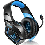 ONIKUMA PS4 Gaming Headset �ber Ohr Stereo Gaming Kopfh�rer mit Noise Cancelling Mic f�r Nintendo Switch PS4 Xbox One PC Laptop Smartphones Bild