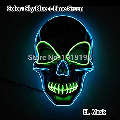 Kostüm Elf Cosplay Dark - 2019 LED Halloween Maske Film Purge Masken Wahl Mascara Kostüm DJ Leuchten Party Masken Glow In Dark Cosplay Zahltag Maske   Typ 11