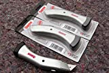 3 Stück PROFI Bodenleger Teppich Messer Trapez Haken Klingen Verlegemesser Set