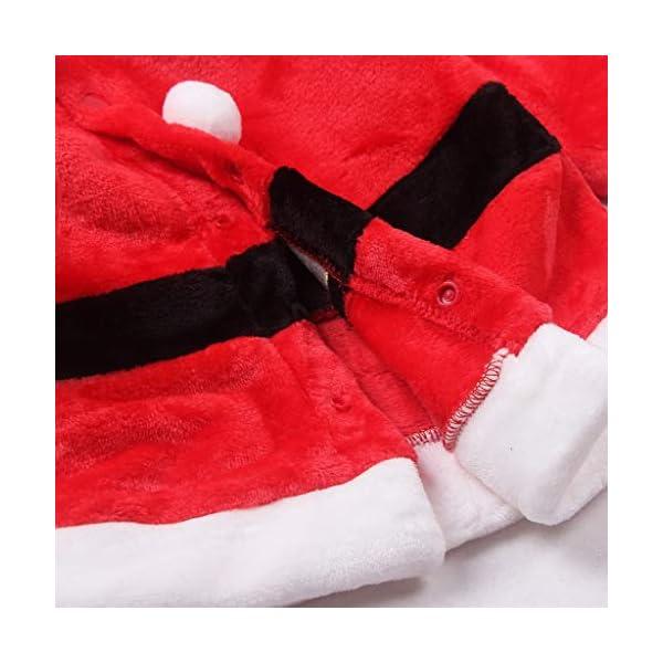 Navidad POLP Bebé Cosplay Tops Pantalones y Sombrero Cinturón Disfraz Conjuntos de 4 Piezas Rojo Verde Trajes Niñas… 5