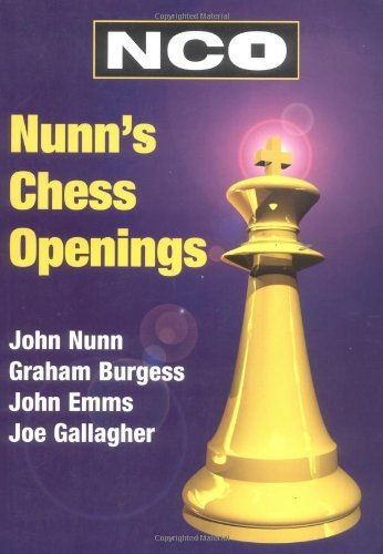 Nunn's Chess Openings (Cadogan Chess Books) by Graham Burgess (1999-02-01)