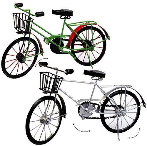 alles-meine.de GmbH 1 Stück _ großes Deko -  Fahrrad / Bike - E-Bike  - 48 cm - aus Metall - Fahrradreise - Rennrad - Damenfahrrad mit Korb - Männerfahrrad / Rad - Velo / Reise.. - Rennrad 48cm
