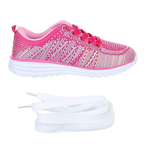 Ital-Design, Sneaker donna Rosa (Rosa - rosa)