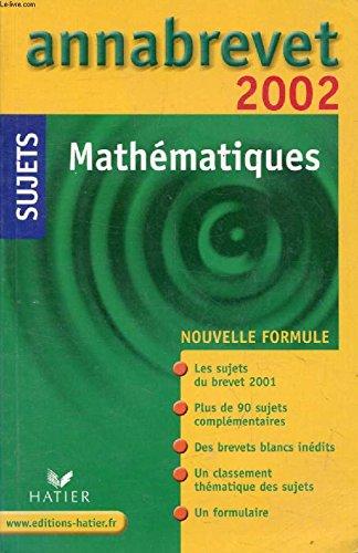 Mathématiques. Sujets 2002