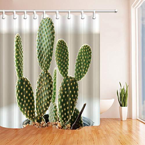 GAOFENFFR Suculentas Cortinas Ducha Cactus baño Planta