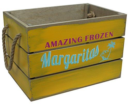 Dekokiste Weinkiste Obstkiste Getränkekiste Cocktail versch. Größen + Designs (30 x 20 x 20 cm, Margaritas) Große Margarita