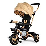 Fascol 4 in 1 Childrens Folding Tricycle for 6 Months to 5 Years...