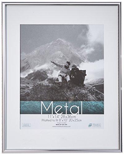 Zeitloses Frames Metall Wand Bilderrahmen, Aluminium, Silber, 12x18 ()