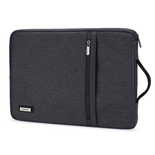 LONMEN Wasserdichte Laptoptasche 15 - 15.6 Zoll Verdicken Laptophülle Kratzschut Mit Griff Tasche Wasserdicht Stoßfest Geeignet für 15
