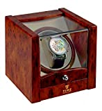 Time Tutelary Single Watch Winder (High Gloss Burlwood) No' 079 Bild