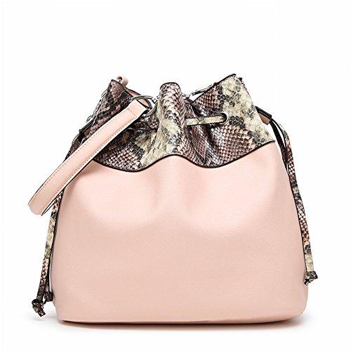 Serpentine Eimer Tasche Handtasche Schulter Messenger Bag Mode Handtaschen , Hell-Pink (Helle Grün-pumpen)