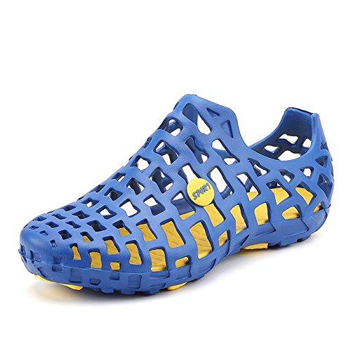 Xing Lin Chaussures DÉté Hommes Les Chaussures Pour Enfants Garçons Chaussures Occasionnels Trou DÉté Des Grands Garçons Enfants Filles Chaussures De Plage Nouveaux Étudiants Marée Sandales 555 blue