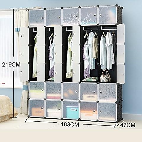 AcornFort 30 Gates 5 Columns 6 Tiers Extra Deep Interlocking Wardrode Storage Cubes Shelves 219cm * 183cm