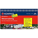 Weserradweg, von Hann. Münden nach Cuxhaven: Fahrradführer mit Top-Routenkarten im optimalen Maßstab