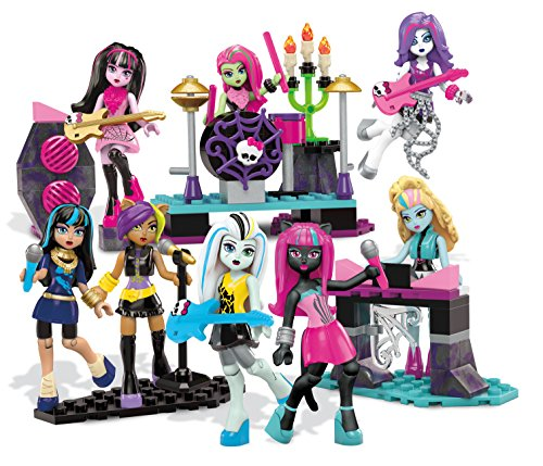 Monster High Mega Bloks Glam Ghoul Band Building Playset