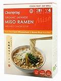 Clearspring Los Fideos Ramen De Miso Japonés Orgánicos Con 170g De Jengibre Sopa De Miso (Paquete de 2)