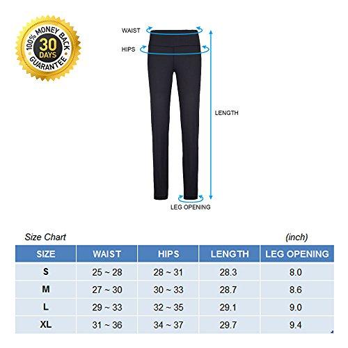 Pantaloni di Yoga Stretch di alta vita dei pantaloni da ginnastica delle donne di SOUTEAM, modello di acquerello l'acquerello nero