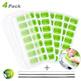 Best Ice Cube Trays With Covers - Ice Cube Trays 4 Pack, Homecube Easy-Release Nontoxic Review