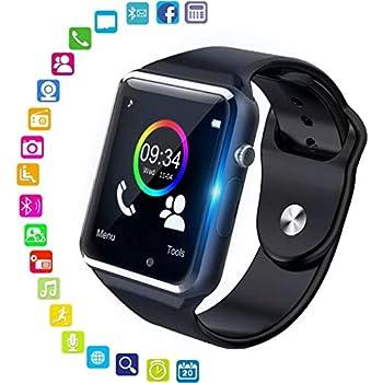 PHIPUDS Smartwatch, Reloj Inteligente con Ranura para Tarjeta SIM Cámara Pulsera Actividad, Reloj Iinteligente Mujer Hombre niña niños para Xiaomi ...