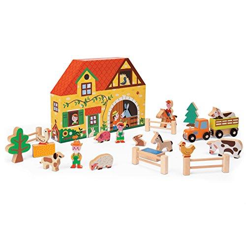 Janod - Story box, Granja de madera (Juratoys J08524)