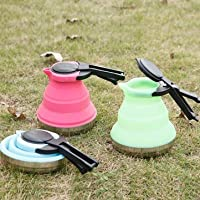 Portable Folding Silicone Kettle Picnic Electric Pot Heating Kettle Camping Hiking Travel