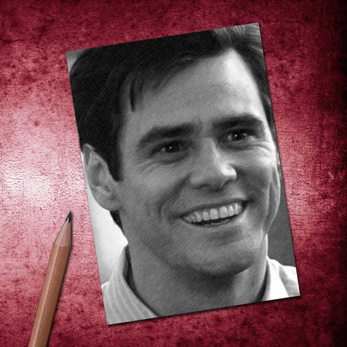 H720 (4 SEASONS) JIM CARREY - ACEO Sketch Card (Signed by the Artist) #js001