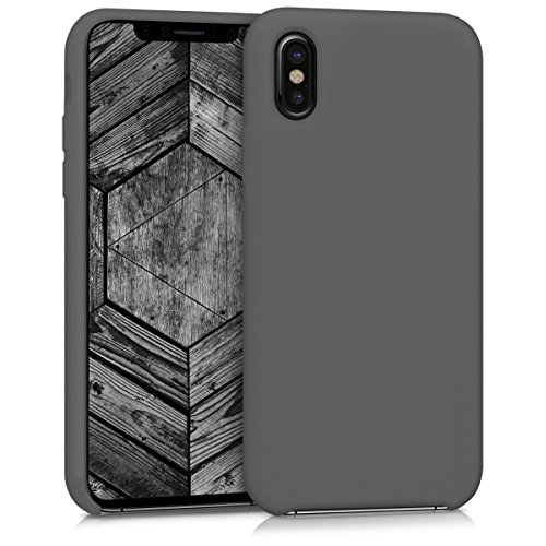 kwmobile Hülle für Apple iPhone X - TPU Silikon Backcover Case Handy Schutzhülle - Cover Schwarz matt .Schwarz