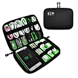 DEFWAY Cable Organiser Bag Electronics Accessories Travel Carry Storage Case for USB Cables Hard Drive SD Cards