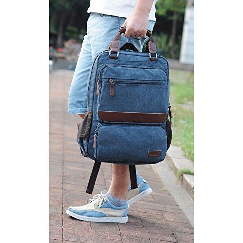 Outreo Weekender Daypack Herren Rucksäcke Freitag Tasche Schulrucksack Vintage Rucksack Schultaschen Sporttasche Reiserucksack Backpack für Reisetasche Retro Bag Canvas Gr¨¹n