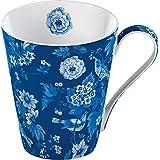 Creative Tops V&A Garden Birds Fine Bone China Conical Mug in Box-, Blue