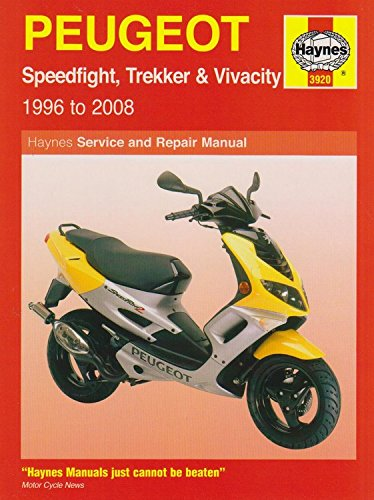 Peugeot Speedfight, Trekker & Vivacity Scooters ('96 To '08): 1996 to 2008 (Haynes Service and Repair Manuals) por Phil Mather