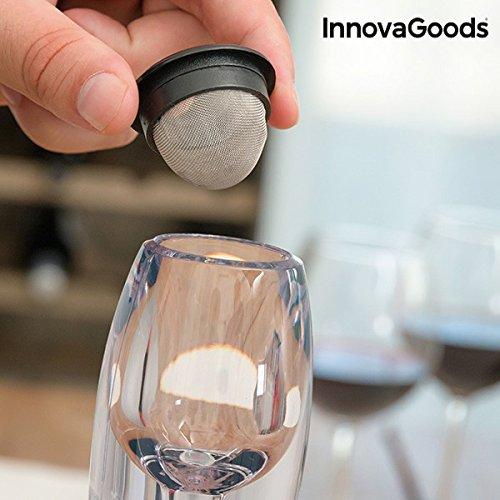 InnovaGoods Decantador de Vino Profesional, ABS, AS y Silicona, Negro, 16.5x40x18.5 cm