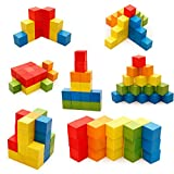 #2: Tootpado Colored Wooden Building Blocks 100 pcs - (1TNG123) - Puzzle Game