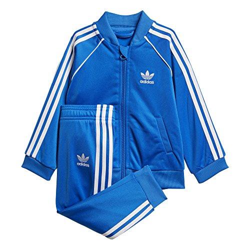 adidas - Sst - Survêtement - Mixte Enfant - Bleu (Bluebird) - FR: 6-9 mois (Taille Fabricant: 74)