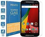 PREMYO Panzerglas für Motorola Moto G 2014 Schutzglas Display-Schutzfolie für Moto G-2 Blasenfrei HD-Klar 9H 2,5D Echt-Glas Folie kompatibel für Motorola Moto G 2. Generation Gegen Kratzer Oleophob