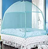 Gotobuyworld Mosquito Net for Double/Single Bed Three-door Nets Suitable for Adults/Children Protective Multicolour 2*1.2*1.5/2*1.5*1.7/2.*1.8*1.7m (200*180*170cm, Light Blue)