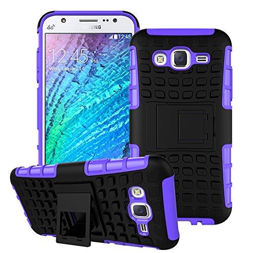 Nnopbeclik Samsung Galaxy A3 (2015) SM-A300F Hülle, Dual Layer Rugged Armor stoßfest Handy Schutzhülle Silikon Tasche für Samsung Galaxy A3 (2015) SM-A300F - Lila + 1x Display Schutzfolie Folie