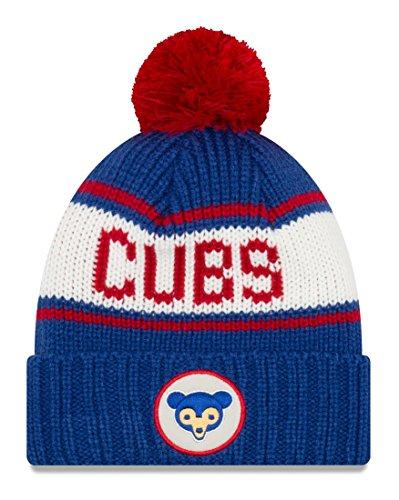 Chicago Cubs New Era MLB 9Twenty Cooperstown Retro Patch Cuffed Knit Hat - 1969 (Hat Retro-cuffed Knit)