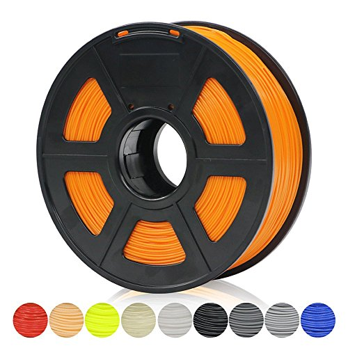 Price comparison product image ANYCUBIC 3D Printer Filament PLA,  1.75mm 3D Printing PLA Upgrade Version Filament 2.2 LBS (1KG) Spool for 3D Printers & 3D Pens (Orange)