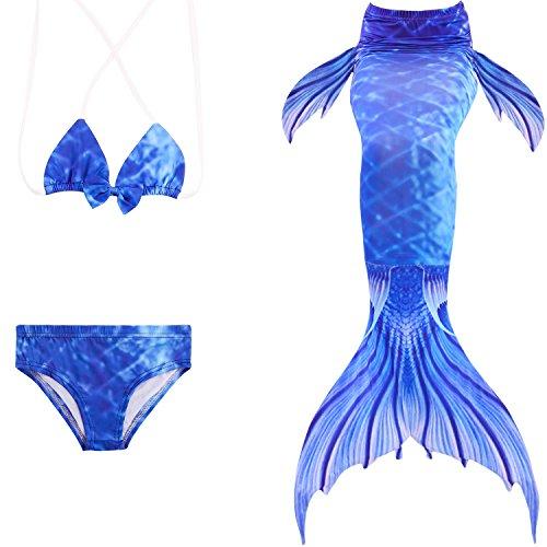 ädchen Meerjungfrauen Bikini Kostüm Meerjungfrau Schwimmanzug Badeanzüge Tankini Kostüm Cosplay ()