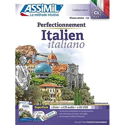 Perfectionnement Italien superpack usb (livre+ 4Cd audio+1 clé usb)