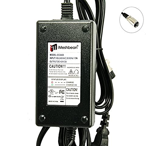 iMeshbean® 24V 2A Pride Mobility Shopride Scooter Battery Charger
