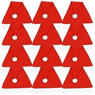 Ciffre Gorro de Navidad Grand selección – roja Azul Negro Amarillo Verde Papá Noeln 6/12 / 24/48
