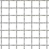 Vislone Drahtgitter Wellengitter Edelstahl Gartenzaun 4 Eck Geflecht Drahtzaun 50×50 cm 21×21×2,5 mm