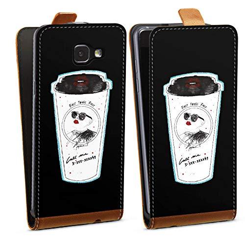 �lle Flip Case kompatibel mit Samsung Galaxy A5 (2016) Kaffee Coffee Becher ()