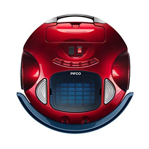 Pifco Robotic Vacuum Cleaner, Anti-Falling System, 1500 mAh, 25 W, Red