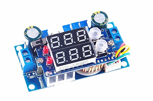 XINY DC Voltage Regulator Buck Converter 6-36V to 1. 25-32V 5A Constant Current Voltage MPPT Solar Controller with LED Voltmeter Ammeter Power Display for Charging Battery Car Power Supply