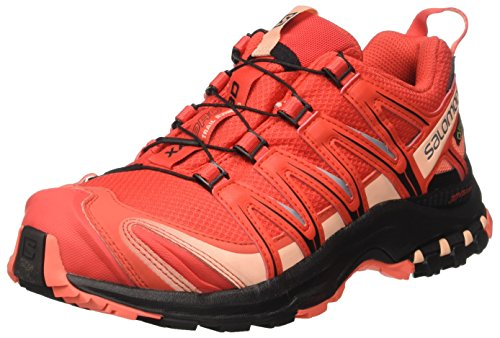 Salomon Xa Pro 3d Gtx W, Chaussures de Trail Femme Rouge (Poppy Red/black/living Coral)